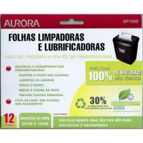 Folhas Limpadoras e Lubrificadoras para Fragmentadoras Aurora SP1000 - Pacote com 12 unidades -