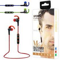 Fone Bluetooth Intra-Auricular Metal Gold Stereo Sports In-Ear Headphone - FB-BT-2 - Exbom