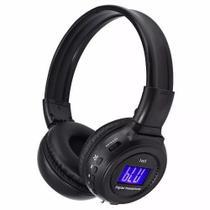 Fone Com Bluetooth Cartao Sd Fm Sem Fio Com Visor N65 - Knup