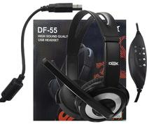 Fone Com Fio E Microfone Dex Df-55 Headset 2042 -