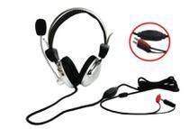 Fone com microfone com dupla entrada P2 audio e voz para notebook Pc - Johnystar Plugx