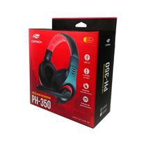 Fone com Microfone Headset C3 Tech PH-350BK Preto USB PH-350BK - C3Tech