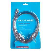 Fone Com Microfone P2 Multilaser Basico Preto Ph002 -