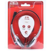 Fone com Microfone PH-01SI Prata C3 PLUS C3 TECH - C3Tech
