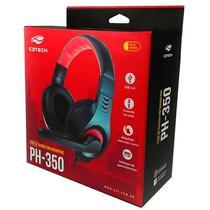 Fone com Microfone USB PH-350BK Preto C3 TECH - C3Tech