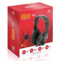 Fone com Microfone Voicer Comfort PH-60BK C3 TECH - C3TECH