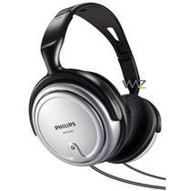 Fone de Ouvido - 3,5/6,3mm - Philips Stereo Headphones - Preto/Prata - SHP2500 -