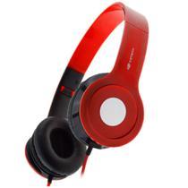 Fone de Ouvido 3,5mm c/ microfone dobrável - C3 Tech - Vermelho - PH-100RD -