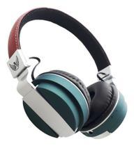 Fone de Ouvido Altomex Bluetooth A-839 - Marrom e Cinza -