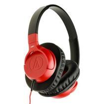 Fone de Ouvido Audio Technica Ath Ax1is Com Mic Vermelho -