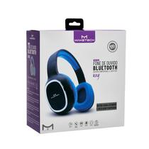 Fone de ouvido azul e preto headphone bluetooth a. fidelidade sonora maketech hp17 - Goal Comercial