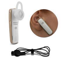 Fone de Ouvido Bluetooth 4.1 Smartphone Notebook Desktop MP3 Player Intra-Auricular Branco e Preto - Prime