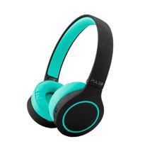 Fone de Ouvido Bluetooth 5.0 HeadBeats Preto e Verde Bateria até 20 Horas Pulse PH340 -
