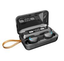 Fone de Ouvido Bluetooth 5.0 TWS F9 com controle digital -