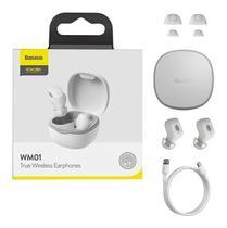 Fone De Ouvido Bluetooth 5.0 WM01 Sem Fio Com Microfone - Baseus Encok True Wireless -