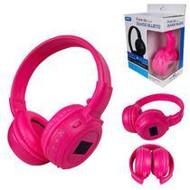 Fone de Ouvido Bluetooth Ajustável e Dobrável FM/CartãoSD Display e Luz RGB KP-348 ROSA - Knup