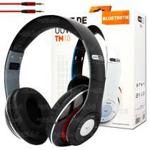 Fone de Ouvido Bluetooth Entrada SD, Rádio FM Preto - TM-10 - Hardline
