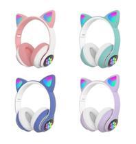 Fone De Ouvido Bluetooth Led Orelha Gato Iuz Headphone - CATear