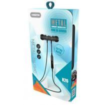 Fone de ouvido Bluetooth Metal Smart K26 Kimaster Preto K26 -