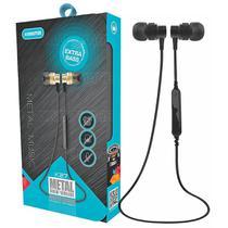 Fone de Ouvido Bluetooth Metal Smart Wireless Extra Bass Microfone Embutido Kimaster K27 -