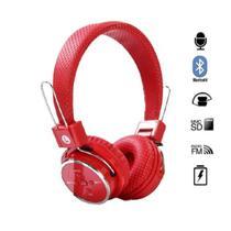 Fone de Ouvido Bluetooth Micro SD FM Dobravel com Microfone - Lehmox