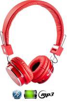 Fone De Ouvido Bluetooth Micro Sd Mp3 Rádio Fm Player B-05 - Vermelho - Boas