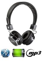 Fone De Ouvido Bluetooth Micro Sd Mp3 Rádio Fm Player - Preto - Boas
