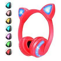 Fone de Ouvido Bluetooth Orelha de Gatinho Exbom com Led Vermelho - Xtrad