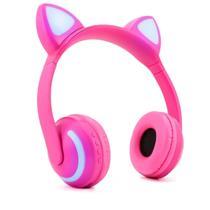 Fone De Ouvido Bluetooth Orelha De Gato Com Led Headfone Gatinho - Xls