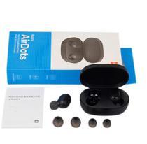 Fone De Ouvido Bluetooth Preto True Wireless 5.0 Android IOS Tipo AirDots Earbuds - Terragaroa