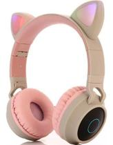 Fone De Ouvido Bluetooth Sem Fio Headphone Orelhas Gato Rgb - Xzt