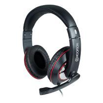 Fone de ouvido c/microfone p2 hoopson f-036 preto/vermelho -