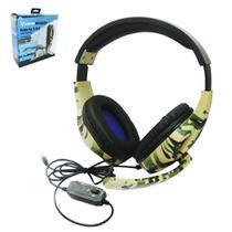 Fone de ouvido camuflado com microfone headset vision 1,2m -