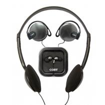 Fone de Ouvido Coby  Kit com 3 fones - CV324 -