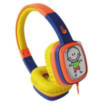 Fone de Ouvido com Alça Kids Cartoon OEX HP302 Amarelo e Roxo -