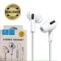 Fone de Ouvido Com Fio Alta Qualidade Com Cancelamento e Isolamento de Ruídos - Lehmox