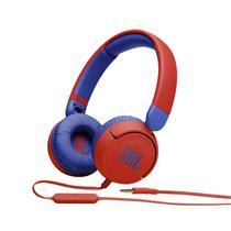 Fone de Ouvido COM FIO Infantil JBL JR310 Vermelho c/ Azul, Microfone Integrado -  JBLJR310RED -