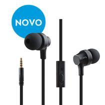 Fone de ouvido com fio intra-auricular com controle - Preto - Elsys
