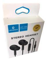 Fone de Ouvido Com Fio Stereo Headset Lehmox preto -