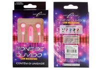 Fone de Ouvido Com Microfone Cores Intra Auricular Tubo Música Meninas Colorido - Art Brink