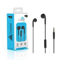 Fone de Ouvido Com Microfone DL CitySound M2, Intra-  auricular, Estéreo, Plug P2, Preto -