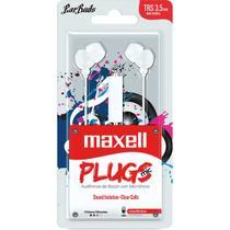 Fone de Ouvido com Microfone Earbuds Stereo Branco - Maxell
