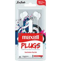Fone de ouvido com microfone earbuds stereo branco unidade - Maxell