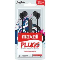Fone de ouvido com microfone earbuds stereo preto unidade - Maxell
