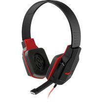 Fone de ouvido com microfone gamer p2 preto/vermelho unidade - Multilaser