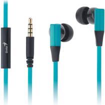 Fone de Ouvido com Microfone Genius HS-M230 In-Ear - Azul Turquesa - Genius -