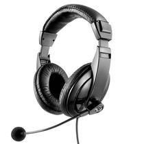 Fone de Ouvido com Microfone Giant Multilaser PH049 Headset Profissional p/ Aulas Online Voip Skype -