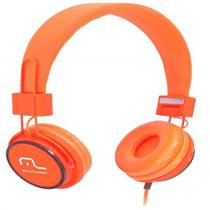 Fone de Ouvido com Microfone Headphone Fun PS2 Laranja PH086 Multilaser