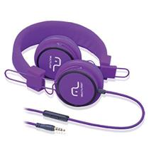 Fone de Ouvido com Microfone Headphone Fun PS2 Roxo PH090 Multilaser