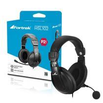 Fone de Ouvido com Microfone Preto HSL-102 Fortrek -